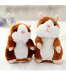 Lovely Talking Plush Hamster Toy, Can Change Voice, Record Sounds, Nod Head or Walk, Early Education for Baby, Different Size for Choice bright brown and nodding 15cm