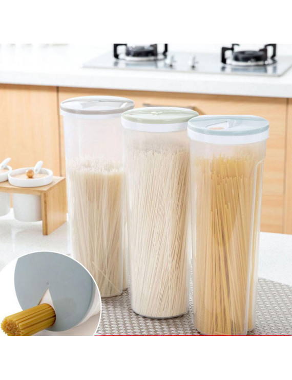 TureClos Spaghetti Plastic Noodles Container Grain Cereal Nuts Beans Food Storage Box and Locking Lids