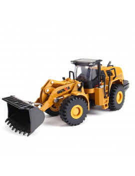 1:50 Scale Alloy Construction Vehicle Toy Truck Excavator Model Goldmine Digger Scooter Pulling Cart bulldozer Tractor Car For Kids Childrens Gift