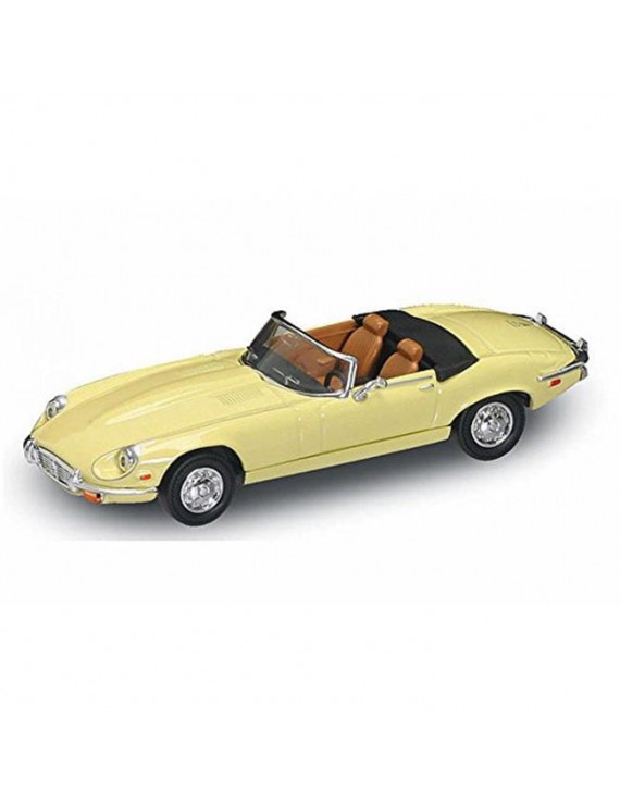 1 by 43 1971 Jaguar E-Type Convertible Diecast Model Car, Yellow