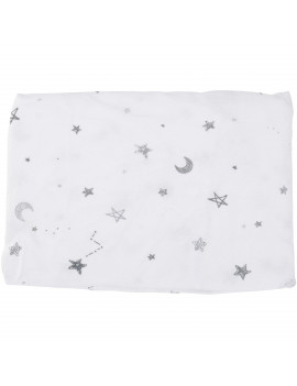 American Baby Company 2 Pack Printed 100% Natural Cotton Jersey Knit Fitted Contoured Changing Table Pad Cover, Travel Lite Mattress, Grey Stars and Zigzag, Soft Breathable, Boys and Girls