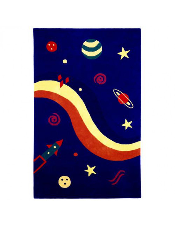 St. Croix Playful Space Explorer Navy Area Rug