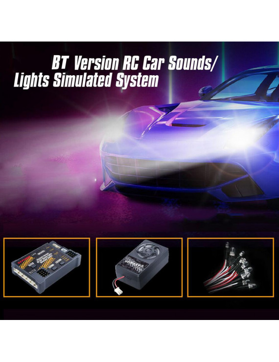 G.T.POWER E32 BT Car Sounds Light Simulated System for Road Grader Climbing Car SUV Truck RC Car