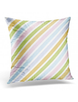 ARHOME Blue Kids Rainbow Diagonal Stripe Pastel Color Colorful Cute Pillow Case Pillow Cover 20x20 inch