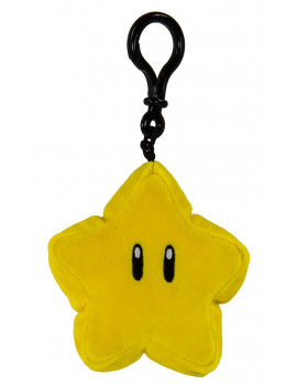 Nintendo Mario Kart Club Mocchi-Mocchi- Collectible Clip-On - Yellow Star Stuffed Toy