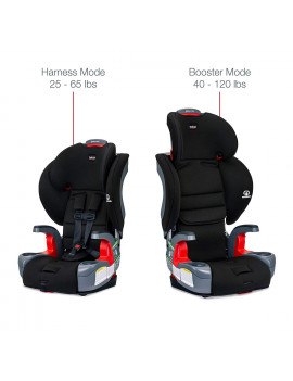 Britax Grow With You Harness-2-Booster Car Seat – 2 Layer Impact Protection – 25 to 120 Pounds, Dusk