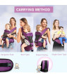 Ergonomic Baby Carrier with Hip Seat for All Seasons, 6 Comfortable & Safe Positions for Infant & Toddlers Front Pouch Waist Stool
