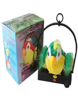 Waving Wings Talking Talk Parrot Imitates & Repeats What You Say Gift Funny Toy