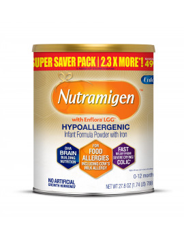 Nutramigen Hypoallergenic Infant Formula with Enflora LGG - Powder, 27.8 oz Can