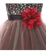 Baby Girls Red Multi Sequin Tulle Special Occasion Dress 6M