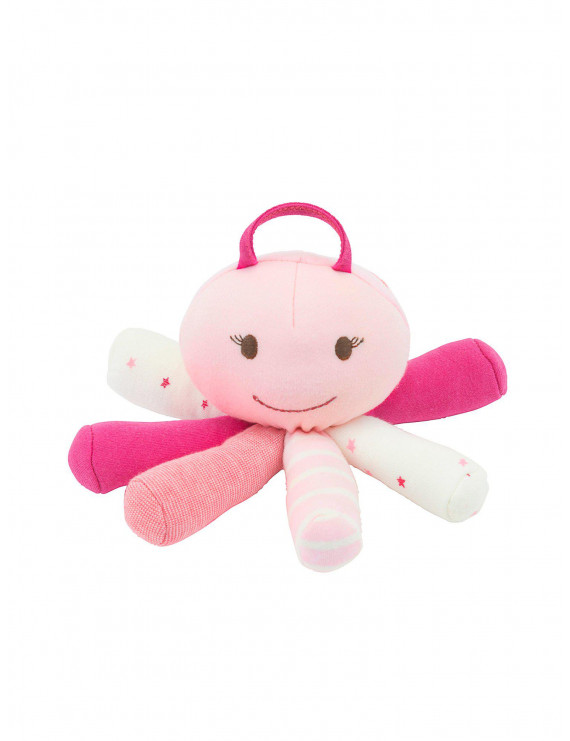 Under the Nile Organic Cotton Pink Scraptopus Stuffed Octopus Toy