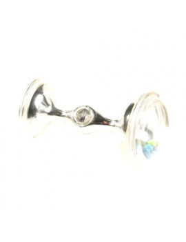 Fisher-Price Baby's First Silver Dumbbell Rattle (Discontinued by Manufacturer)