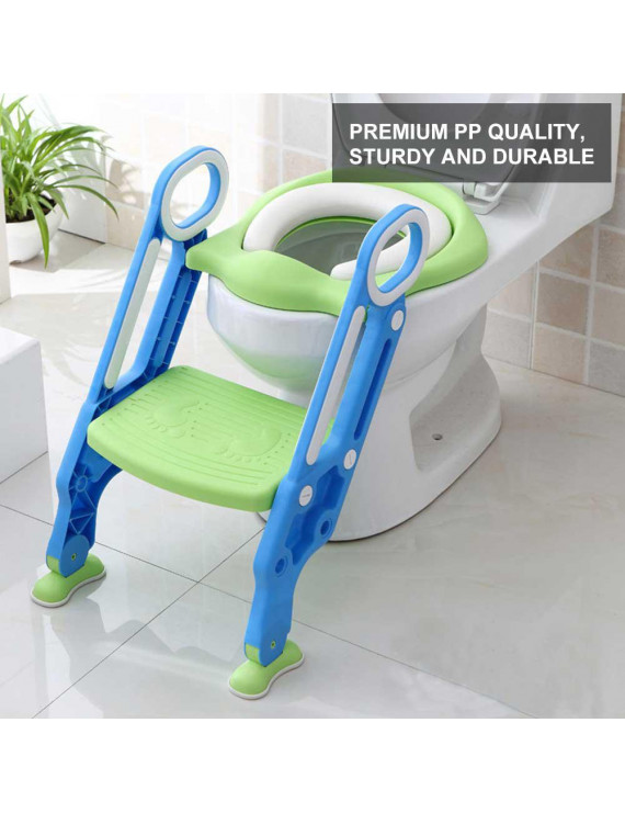 WALFRONT Portable Baby Toddler Hard Toilet Chair Ladder Kids Adjustable Safety Potty Training Seat,Baby Toilet Ladder, Toilet Training Seat