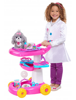 Barbie Pet 18-Inch Care Cart (10-pieces), Ages 3+
