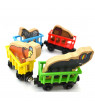 Personalised Animal Name wooden Train Birthday New Year Christmas Gift Toy