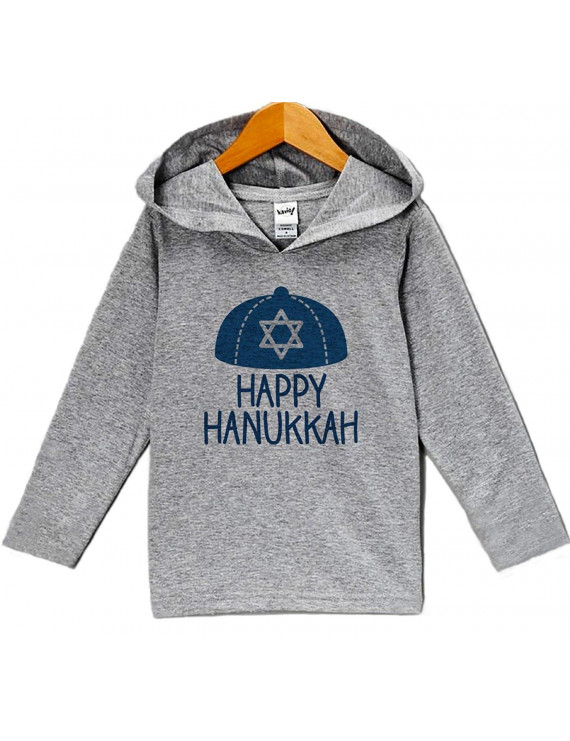 Custom Party Shop Baby's Happy Hanukkah Hoodie Grey - 5