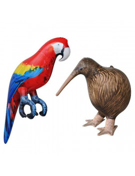 Inflatable Kiwi Bird Parrot Animal Toy Party Gift Kids (KIWI+PARROT)