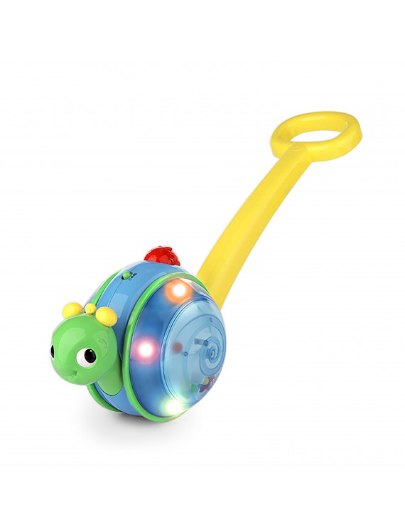 Bright Starts Roll & Glow Snail Walk & Push-Along Toy, Ages 6 months +