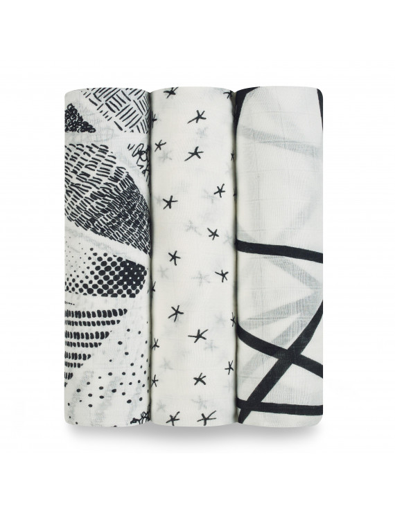 aden + anais silky soft swaddles midnight 3-pack
