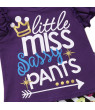Styles I Love Baby Toddler Girl Purple Flutter Sleeve Graphic Top with Graffiti Double Flare Ruffle Pants 2pcs Causal Outfit (100/18-24 Months)