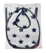 Bacati IKat Muslin Burpies/Bibs, Star Navy /Red - 4 PC, 4.0 PIECE(S)