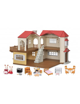Calico Critters Red Roof Country Home Gift Set, Ready to Play with 2 Figures and Accessories