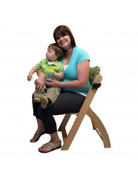 Abiie Beyond Wooden High Chair with Tray, Olive