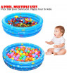 Family Inflatable Baby Pool,3 Rings Anti-skid Inflatable Swimming Pool,Durable Friendly PVC Toddler Kids Basin Bathtub Children Water Play Ball Pit Sand Pool