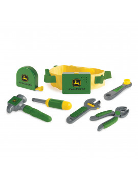 John Deere Deluxe Talking Toolbelt, Toddler Tools & Toolbelt Set With Tool Sounds and Phrases, 7 Pieces