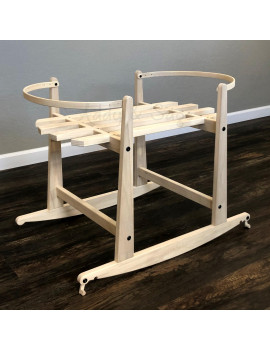 2 in 1 Natural Rocking Stand with Brakes for Heddle & Lamm Bassinets