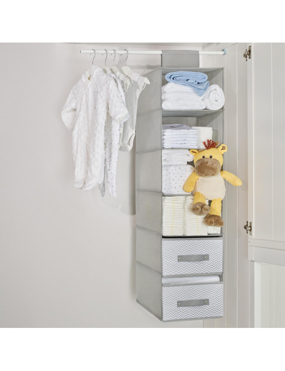 Parent's Choice 6 Shelf Closet Organizer, Grey