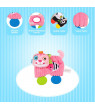Baby Comforter Plush Teething Toys Cartoon Animals with Mirror Baby Soothing Toys Red Monkey