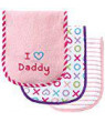 Luvable Friends I Love Burp Cloth, 3pk,