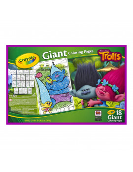 Crayola Trolls Giant Coloring Pages, 18 Sheets for Ages 3+