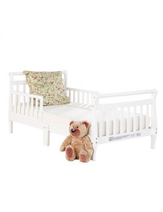 Big Oshi Classic Design Sleigh Toddler Bed- White