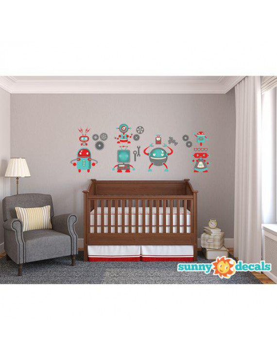 Sunny Decals Robot Fabric Wall Decal