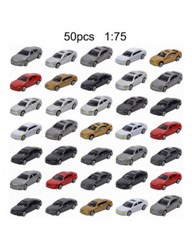 10/50pcs Painted Model Cars Building Train Layout Scale HO 1:75 1:87 Model Building Toy Kits For Kid Children