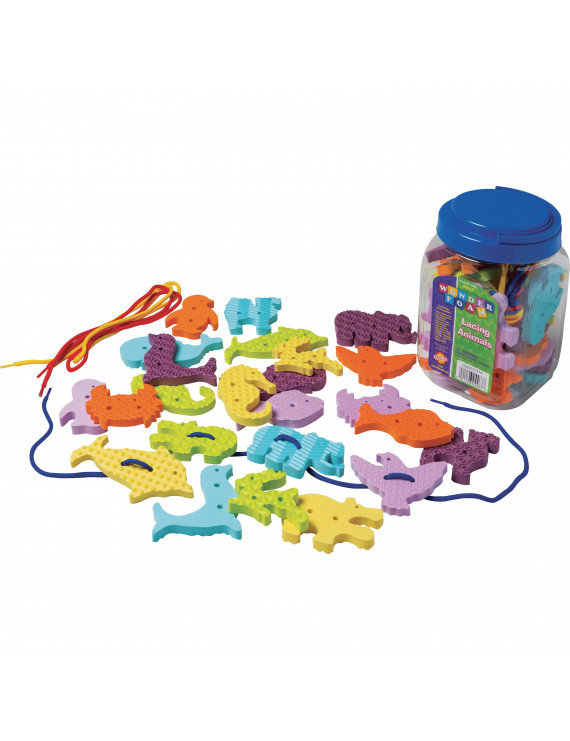 Pacon WonderFoam Early Learning Lacing Animals Set