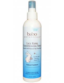 Babo Botanicals Conditioning Spray, Lice Repel Rosemary Mint and Tea Tree, 8 Oz