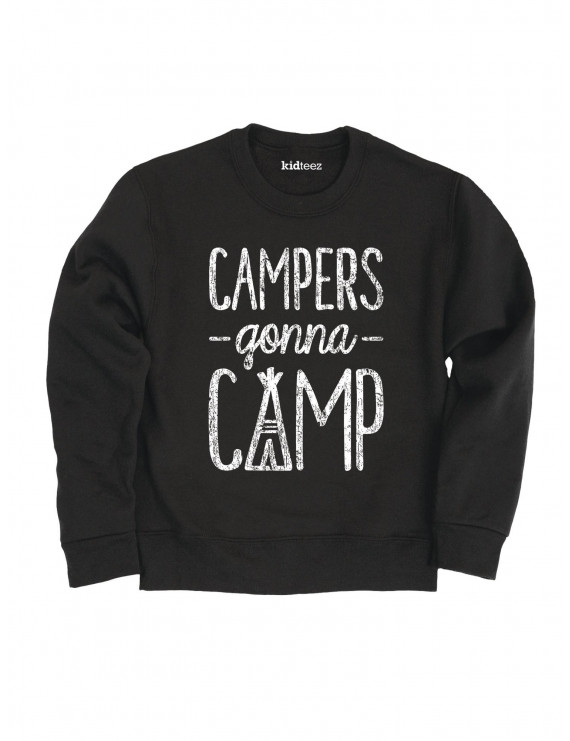 Campers Gonna Camp -TODDLER CREW FLEECE-5T