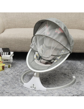 Auto Baby Bouncer Swing Chair Baby Rocker Walker ,Electric Swing Activities Cradle with 5 Gears Time Set Music Swing Shaker Recliner Home Kids Care