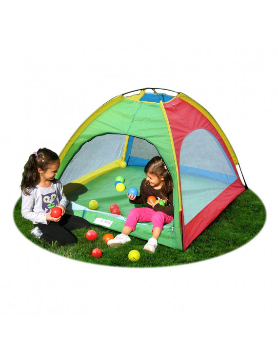 GigaTent 2-pole Dome Ball Pit Playhouse Includes 12 Colorful Plastic Balls