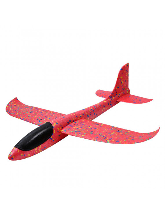 TureClos Children Hand Throw Stunt Aircraft Double Holes Soaring Circling Airplane Model Falling Resistant Toy 35cm
