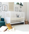 Signature Sleep Honest Blossom Natural Wool Crib And Toddler Mattress with Organic Cotton and Latex Infused Coconut Fibers