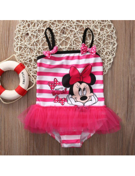 Baby Girl Minnie Swimsuit Costume Bathing Suit