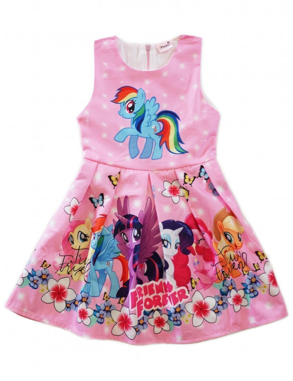 Wenchoice Girls Pink My Little Pony Friends Forever A-Line Dress