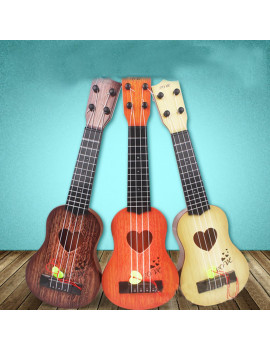 4 Strings Children Simulation Playable Ukulele Guitar Educational Music Instruments Toy Gifts for Beginners orange