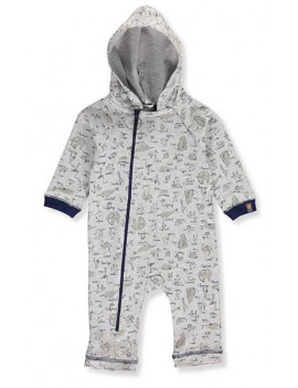 Absorba Baby Boys' Hooded Coverall - gray, 6 - 9 months