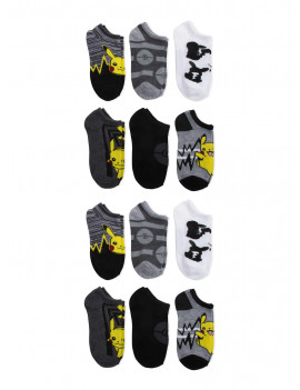 Pokemon Boys Socks, 12 Pack No Show Socks Sizes S - L