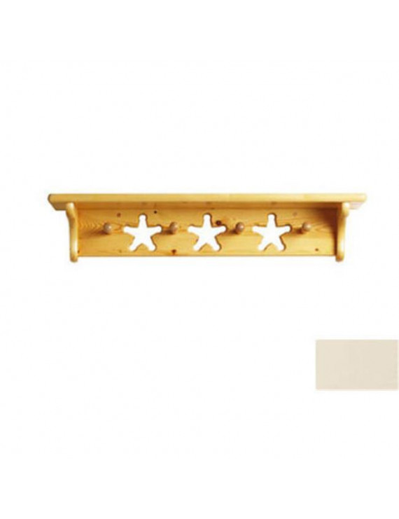 Little Colorado 1234LINST Star Peg Shelf in Linen